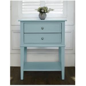 Franklin Wooden Furniture Blue Accent Table with 2 Drawers