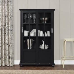 Balquhidder Painted Furniture Bookcase with Sliding Glass Doors