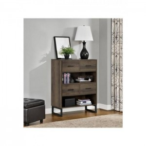 Hawarden Furniture Medium Brown Short Bookcase With Drawers