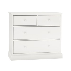 Ashby White Painted Furniture 2 over 2 Chest of Drawers