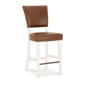 Bentley Designs Belgrave Two Tone Tan Upholstered Bar Stool