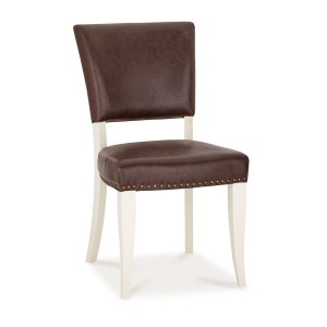 Bentley Designs Belgrave Two Tone Espresso Upholstered Chair (Pair)