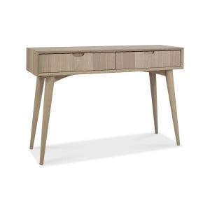 Bentley Designs Dansk Oak Furniture Console Table with Drawers
