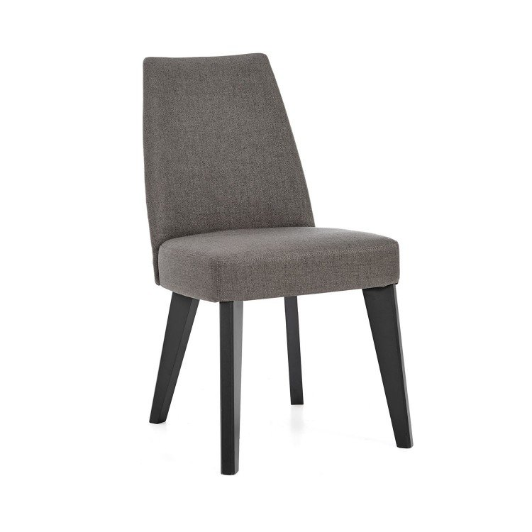 Bentley Designs Brunel Upholstered Fixed Chair Cold Steel Pair