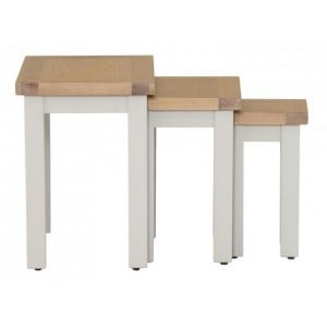 Vancouver Compact Grey Painted Nest of 3 Tables
