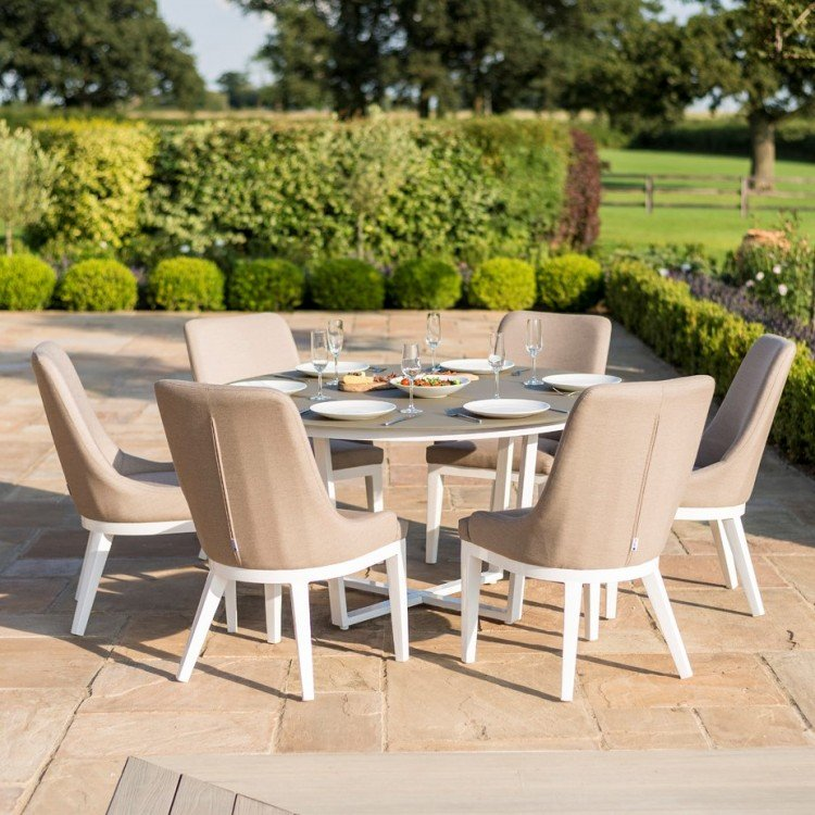Fabric 6 Seater Dining Sets