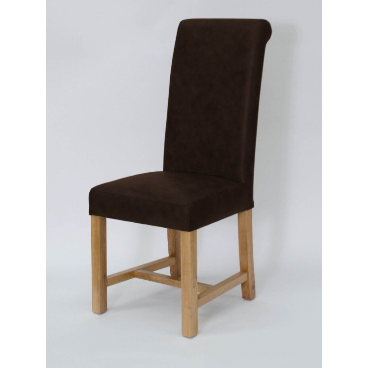 Homestyle Opus Oak Furniture Henley Espresso Leather Dining Chair (Pair)