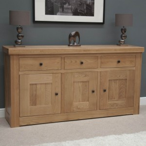 Bordeaux Solid Oak Furniture 3 Door 3 Drawer Sideboard - PRE-ORDER