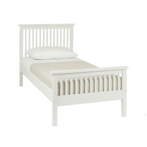 Atlanta White Painted Furniture Single 3ft Bed