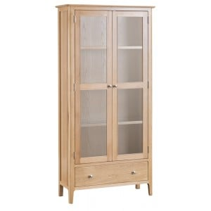 Bergen Oak Furniture Display Cabinet