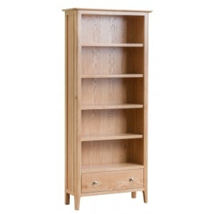 Bergen Oak Furniture Large Bookcase