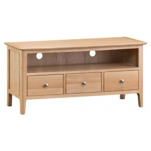 Bergen Oak Furniture Large TV Unit