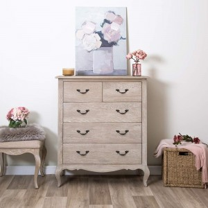 Marseille Oak Furniture 2 Over 3 Chest