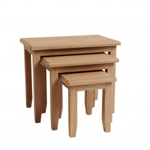 Exeter Light Oak Furniture Nest of 3 Tables
