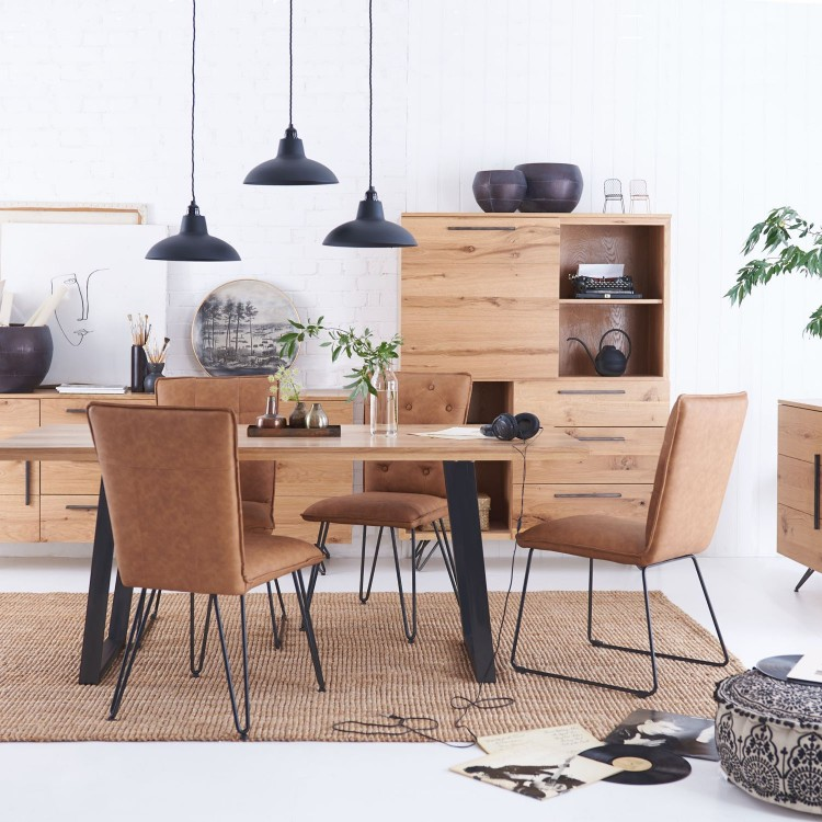 Metro Industrial Rustic Oak Furniture Range