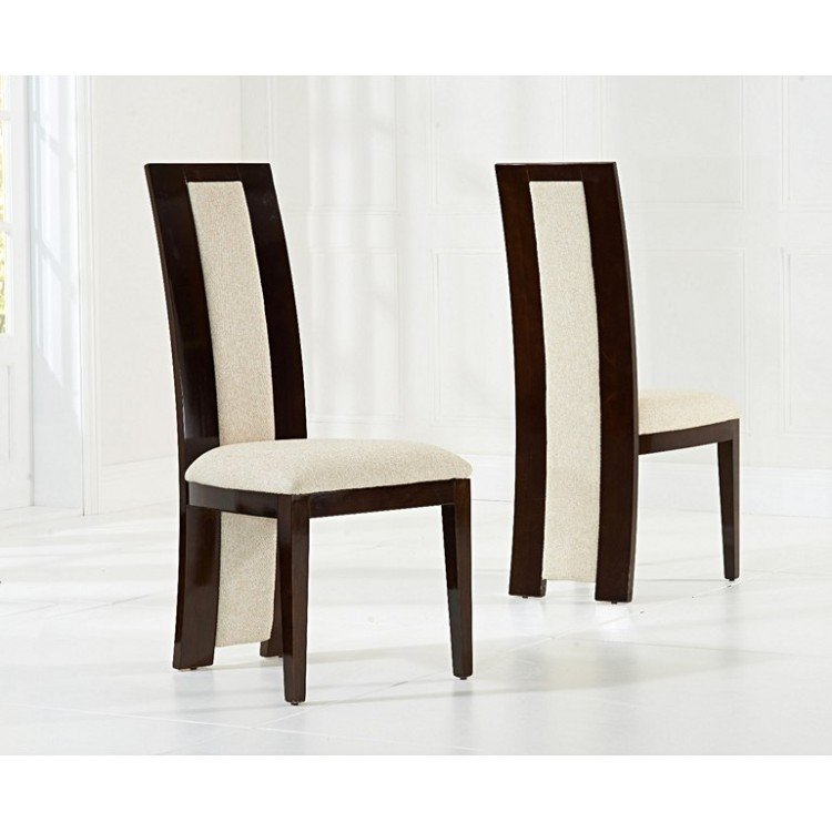 Mark Harris Rivilino Brown Dining Chairs (Pair)