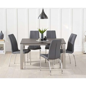 Alejandra 130cm Mink Spanish Ceramic Dining Table & Carsen Chairs