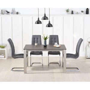 Alejandra 130cm Mink Spanish Ceramic Dining Table & Lucy Chairs
