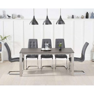 Alejandra 170cm Mink Spanish Ceramic Dining Table & Lucy Chairs