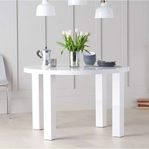 Ava High Gloss Furniture 120cm Round Dining Table