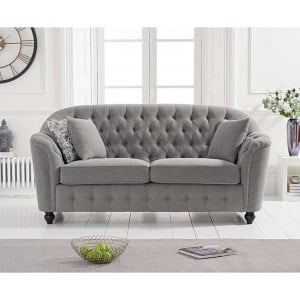 Carrie Furniture Grey Linen 2 Seater Sofa