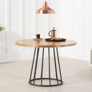 Mark Harris Industrial Furniture Heron Round Dining Table 110cm