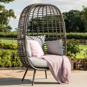 Maze Rattan Garden Furniture Riviera Grey Chair