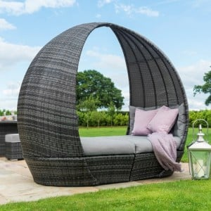 Maze Rattan Garden Furniture Mixed Grey Tulip Daybed