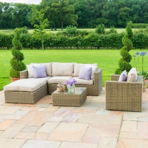 Maze Rattan Garden Furniture Winchester Square Corner Group Sofa Set