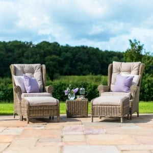 Maze Rattan Garden Furniture Winchester High Back Lounge Set