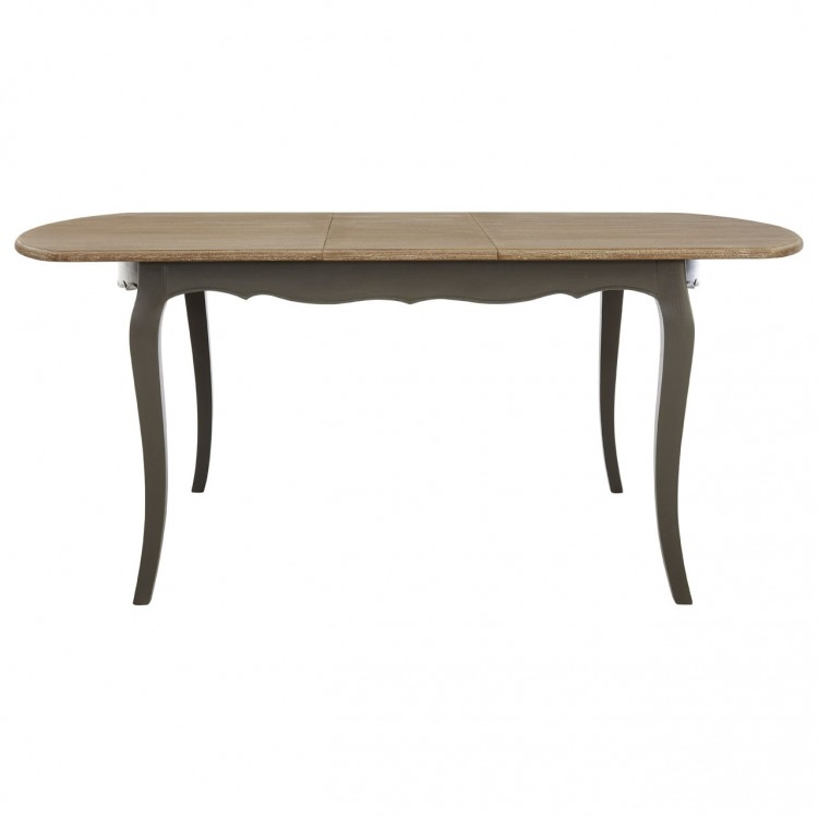 Loire Painted Furniture Dark Grey Extending Dining Table
