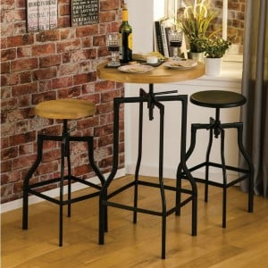 New Foundry Industrial Furniture Ash Bar Table