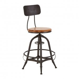 New Foundry Industrial Furniture Adjustable Bar Chair (Pair)