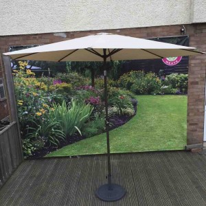Signature Weave Garden Furniture 3m Beige Table Parasol