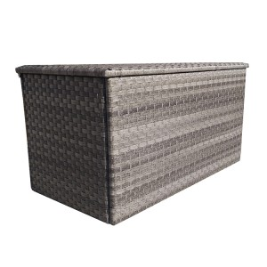 Signature Garden Furniture Weave Triple Weave Grey Medium Cushion Storage Box