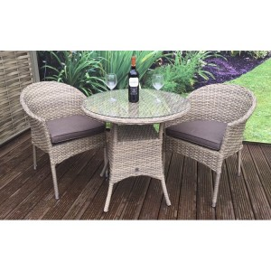 Signature Weave Darcey Bistro Set With 2 Stacking Chairs