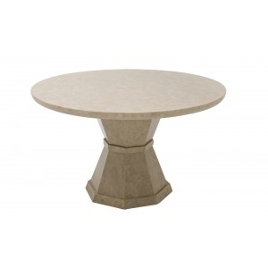 Vida Living Alfredo Marble Furniture Round Dining Table 130cm