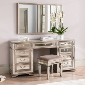 Vida Living Jessica Mirrored Large Dressing Table
