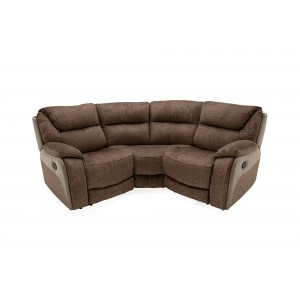 Vida Living Furniture Santiago Brown Fabric Corner Sofa Group