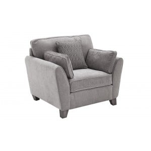 Vida Living Furniture Cantrell Silver Fabric Armchair
