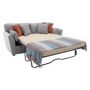 Vida Living Furniture Cantrell Silver Fabric 2 Seater Sofa Bed