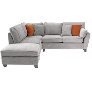 Vida Living Furniture Cantrell Silver Fabric Left Facing Corner Sofa Group
