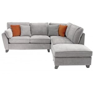 Vida Living Furniture Cantrell Silver Fabric Right Facing Corner Sofa Group