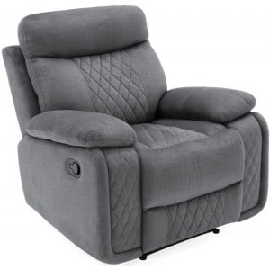 Vida Living Eason Grey 1 Seater Recliner Armchair