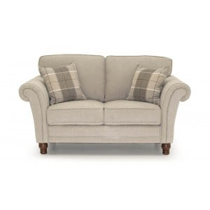 Vida Living Furniture Helmsdale Pewter Fabric 2 Seater Sofa