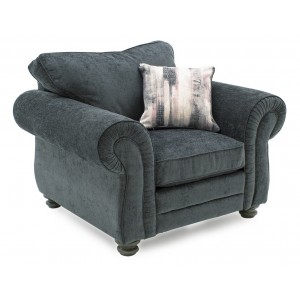 Vida Living Furniture Hollins Charcoal Fabric Armchair with Scatter Cushion