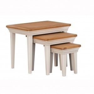 Vida Living Winchester Oak & Painted Furniture Nest of Tables