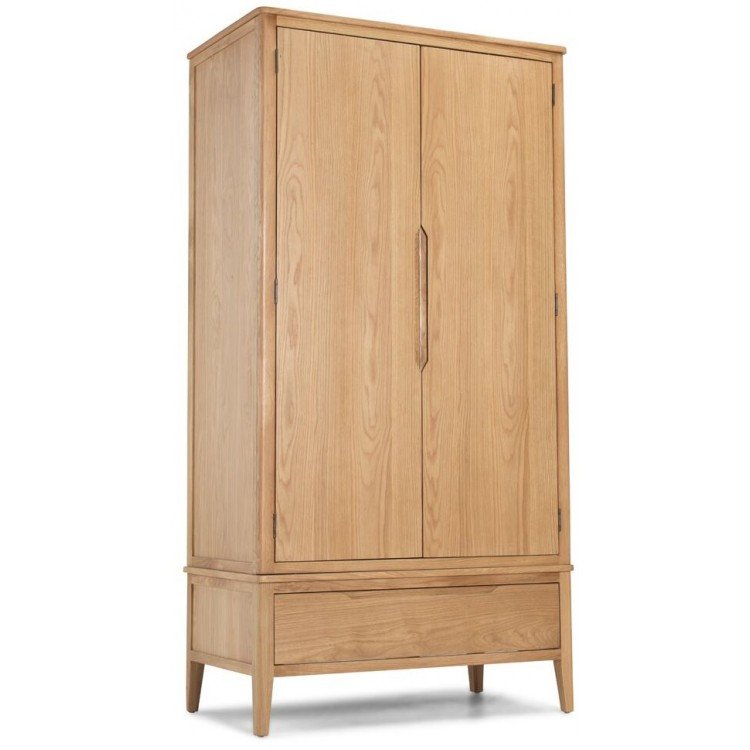 Abbey Oak Furniture Double Wardrobe with Drawer