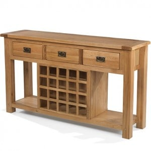 Coleshill Oak Furniture Sideboard with Winerack