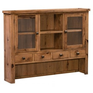 Aztec Oak Dining Room Furniture Rustic Glazed Dresser Top